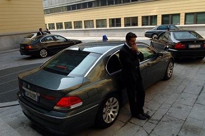 Auto scorta di Polizia
