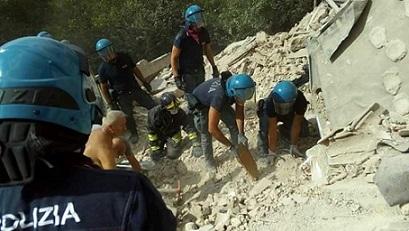 polizia scava